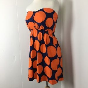 2 for $10 Judith March strapless mini orange XS